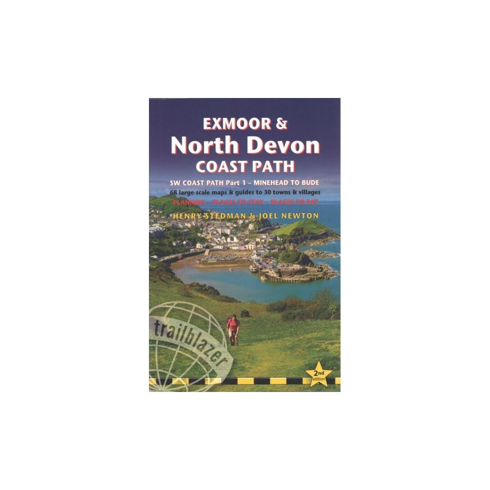 Trailblazer Exmoor & North Devon Coast Path : SW Coast Path Part 1 - Minehead to Bude - 68 large-scale