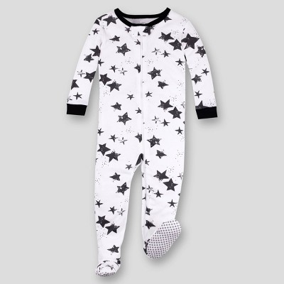 Lamaze Toddler Boys' Stars Footed Pajama - Black/White
