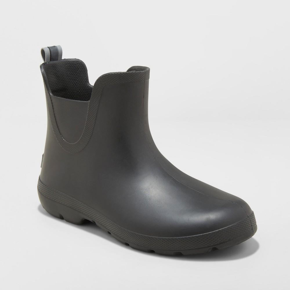 Women's Totes Cirrus Chelsea Short Rain Boots - Black 7