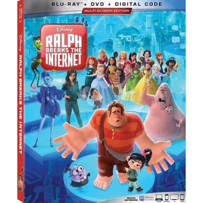 Ralph Breaks the Internet (Blu Ray + DVD + Digital)