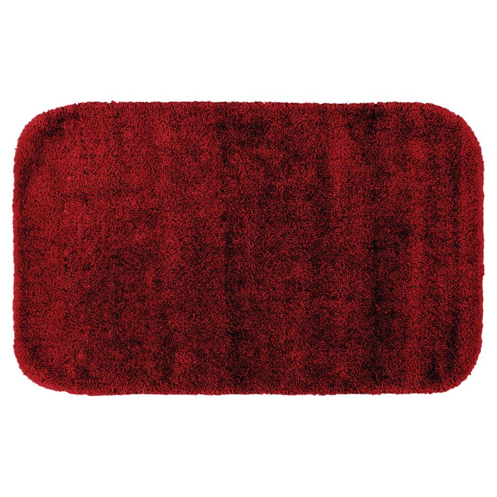 Garland Traditional Plush Washable Nylon Bath Rug - Chili Pepper Red (30