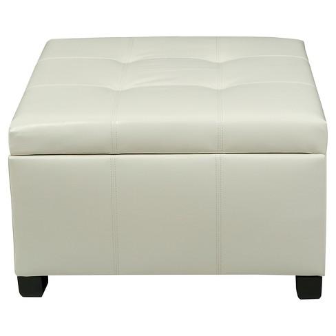 Wondrous Cortez Faux Leather Storage Ottoman Christopher Knight Home Cjindustries Chair Design For Home Cjindustriesco
