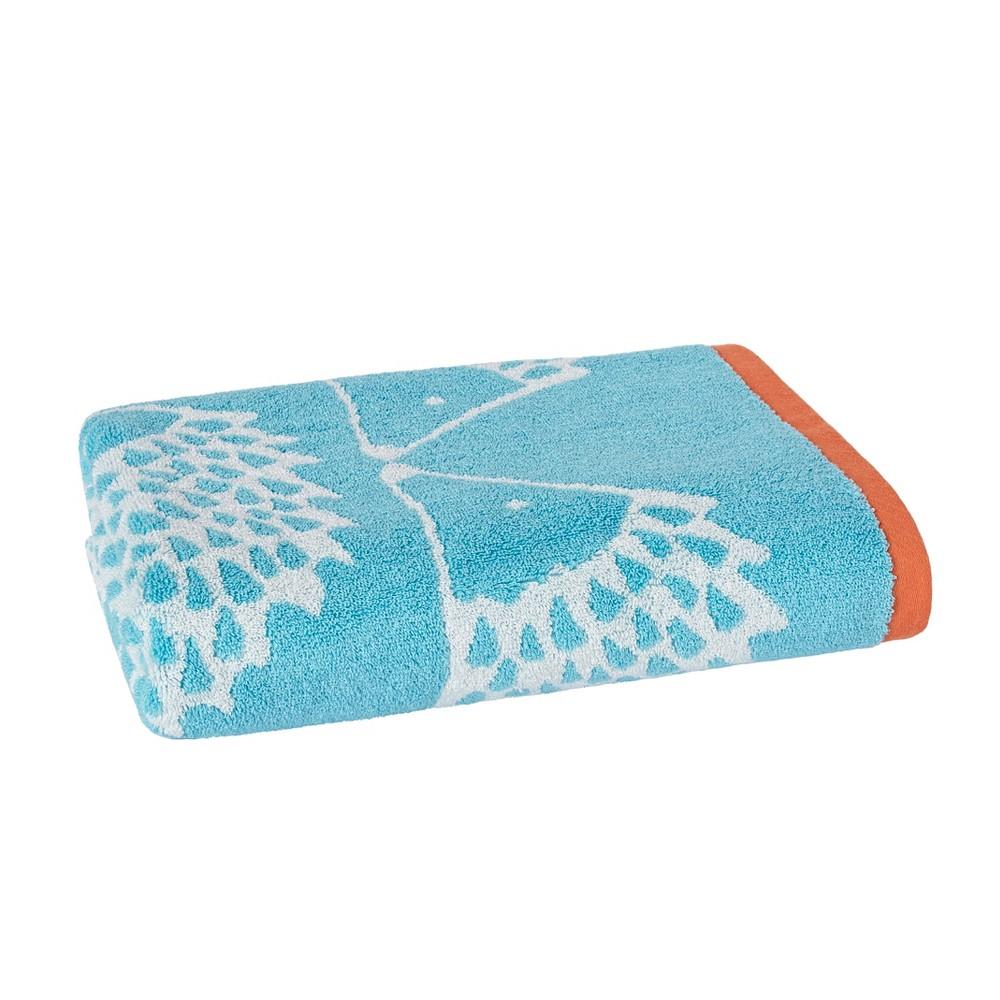 Spike Jacquard Bath Towel Blue - Scion