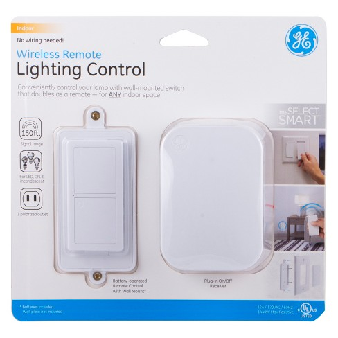 Myselectsmart Wireless Remote Control Light Switch 1 Outlet White