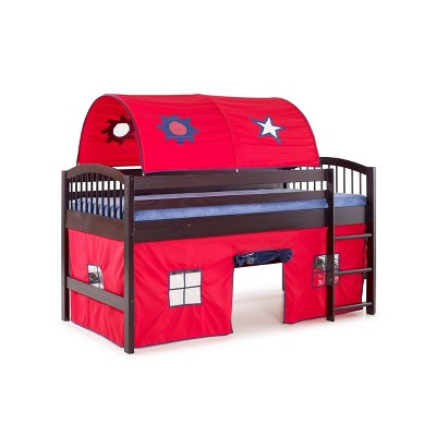 Twin Addison Wood Junior Loft Tent Bed - Alaterre Furniture