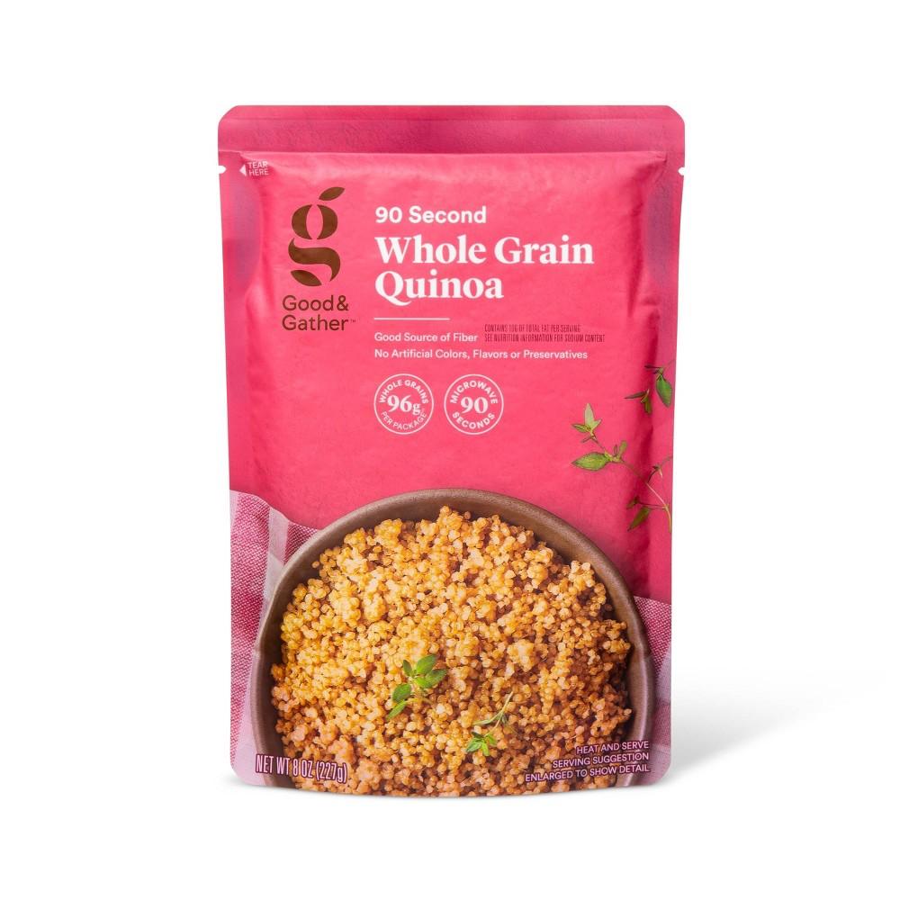 Whole Grain Quinoa Microwavable Pouch 8oz Good 38 Gather 8482