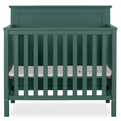 Dream On Me Jasmin 4-in-1 Convertible Mini Crib - Olive Green