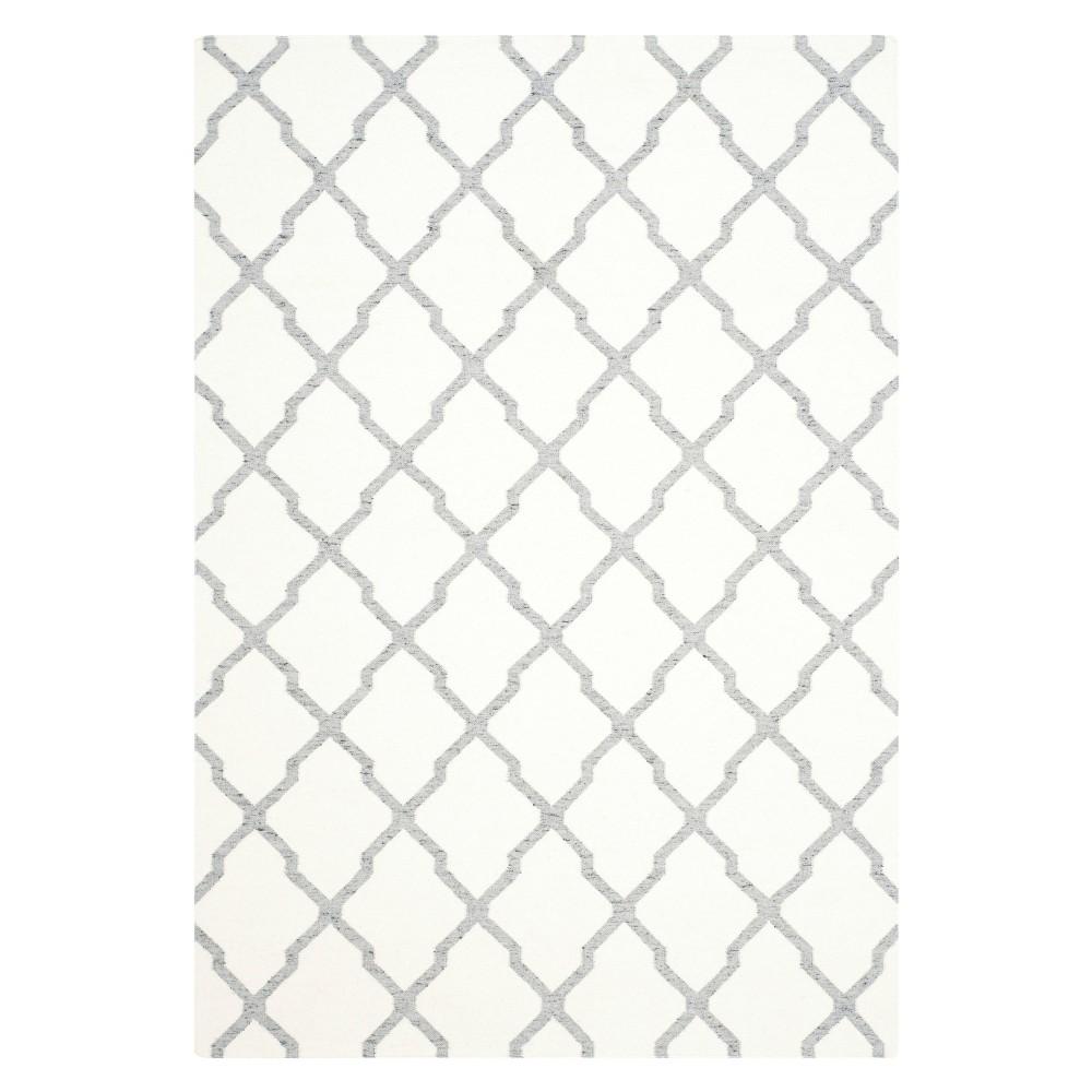 Cheap Dhurries Rug - Ivory Gray - (6x9) - Safavieh
