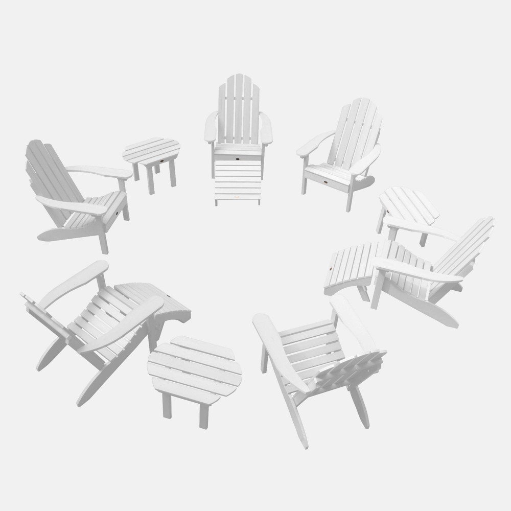 Image of 12pc Classic Westport Adirondack Patio Set Coastal White - highwood
