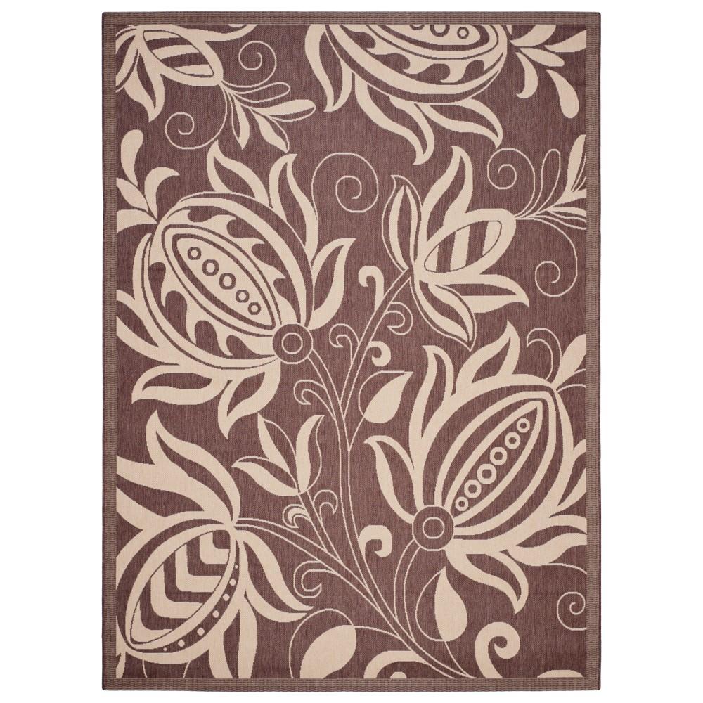 Gori Rectangle 9'x12' Outer Patio Rug - Chocolate/Natural - Safavieh, Brown