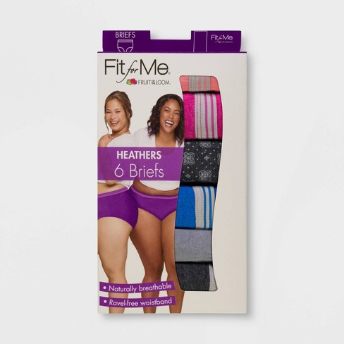 a080b321911 Fit For Me By Fruit Of The Loom Women's Plus 6pk Cotton Heather Classic  Briefs : Target