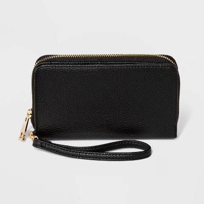 Zip Closure Wristlet - A New Day™ Black