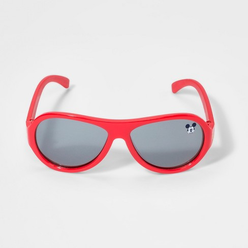 Boys' Mickey Mouse Sunglasses - Red One Size - image 1 of 2