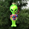 """Holiday Ornament 2.25"""" Alien W/ Tye Dye Shirt Martian Outer Space Peace  -  Tree Ornaments - image 3 of 3"""