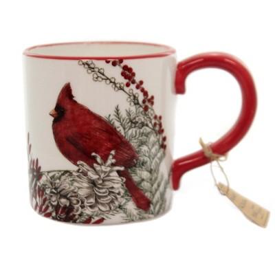 "Tabletop 4.0"" Cardinal Mug Christmas Red Bird Berries Park Designs  -  Drinkware"