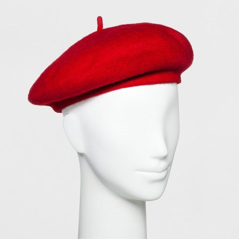 Women's Berets Hat - Wild Fable™ Red - image 1 of 3