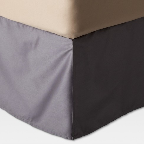 Target Queen Bed Skirt.Gray Wrinkle Resistant Cotton Bed Skirt Queen Threshold