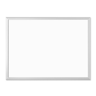 "U Brands 23""x17"" Magnetic Dry Erase Board with Tray Aluminum Frame"