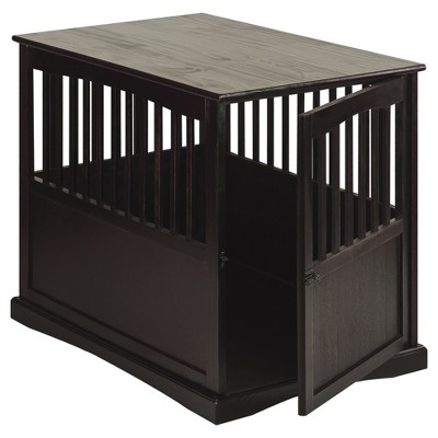 Dogs Pet Crate End Table Large   Espresso   Flora Home : Target