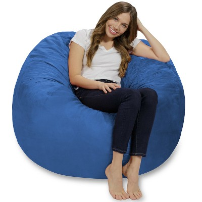 6' Huge Bean Bag Chair with Memory Foam Filling and Washable Cover - Relax Sacks