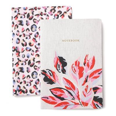 """2pk Lined Journal 10""""x7"""" Stitched Spine Floral - Gartner Studios"""