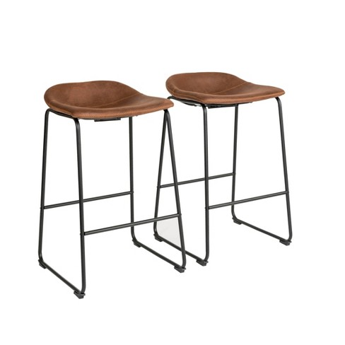 Prime Set Of 2 Landon Bar Stool Brown Finch Ibusinesslaw Wood Chair Design Ideas Ibusinesslaworg