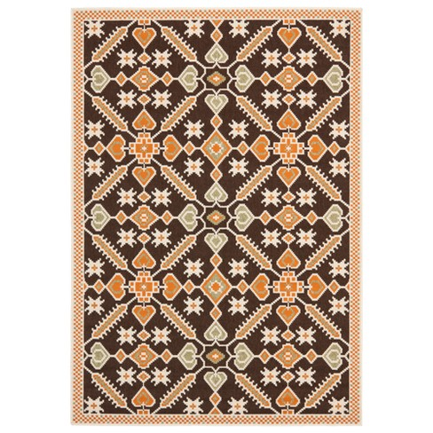 Arvin Indoor/Outdoor Rug - Chocolate / Terracotta - Safavieh® - image 1 of 1