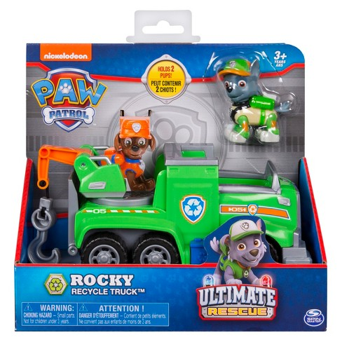 paw patrol ultimate rescue rocky recycle truck target