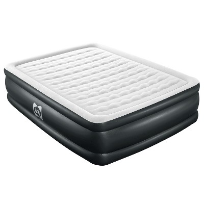 Sealy 94056E-BW Tritech Internal I-Beam 20 Inch High 2 Person Inflatable Mattress Queen Airbed with Built-In Air Pump, Storage Bag, and Repair Patch