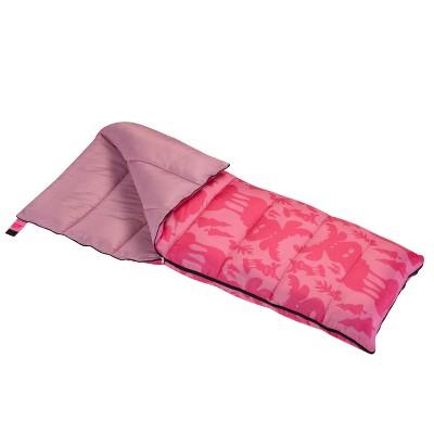 Wenzel Moose 40-50 Degree Youth Sleeping Bag - Pink