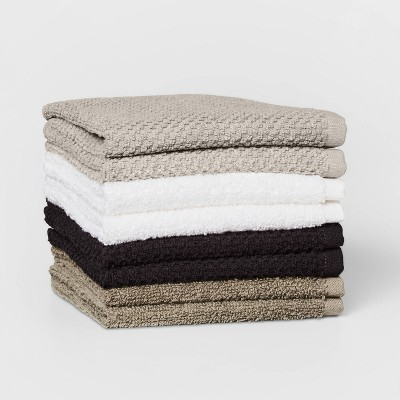 "8pc 12""x12"" Washcloth Set Gray - Pillowfort™"