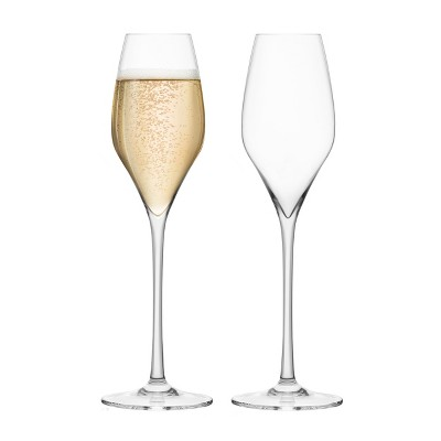 Final Touch DuraShield Lead-Free Crystal 11.5 Ounce Champagne Glass, Set of 2