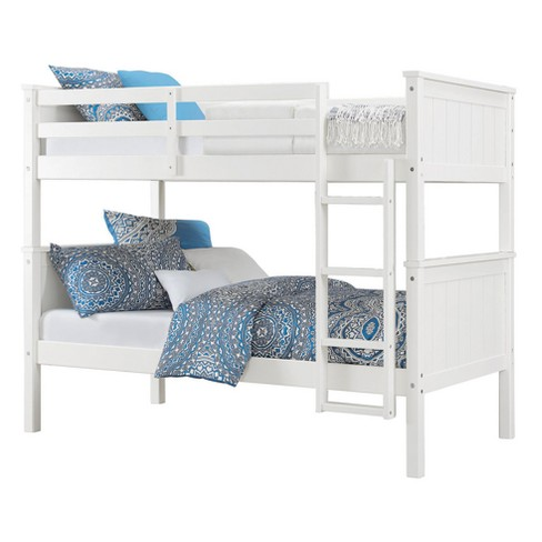 Maxton Twin Over Twin Bunk Bed White Dorel Living Target