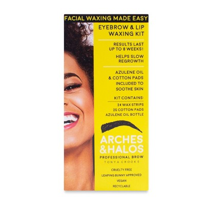 Arches & Halos New Eyebrow & Lip Waxing Kit - 3pc