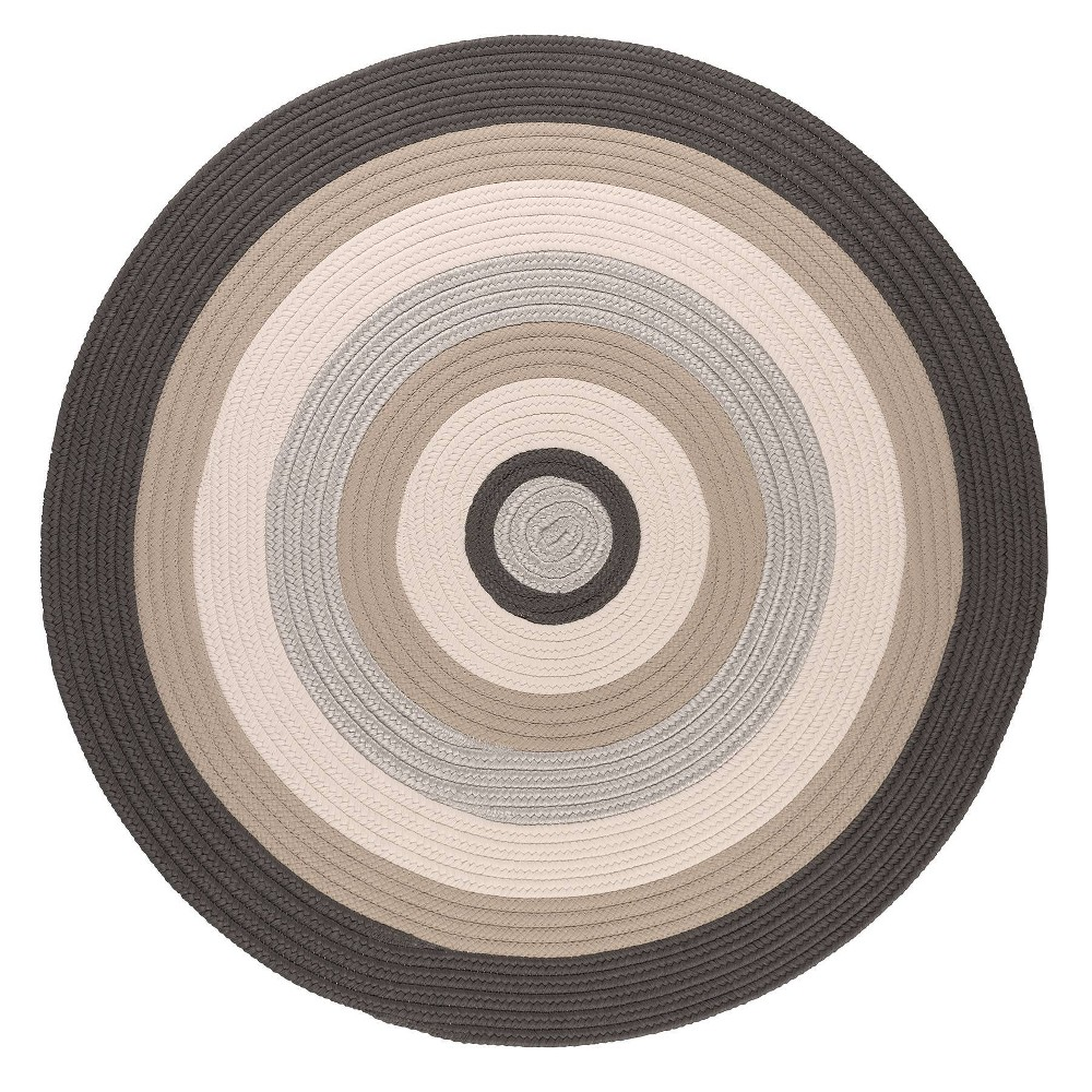 Image of 10' Round Mountain Top Braided Area Rug Gray - Colonial Mills