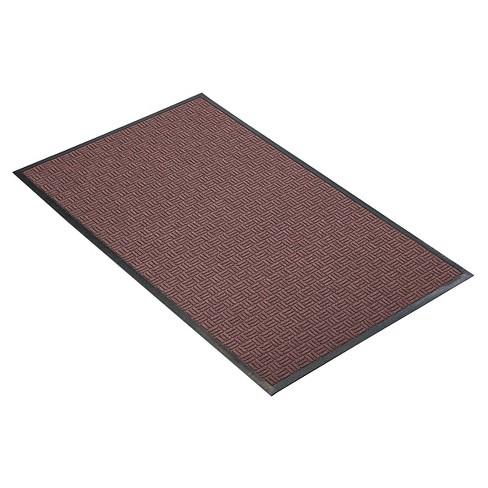 Burgundy Solid Doormat - (2'X3') - HomeTrax - image 1 of 4