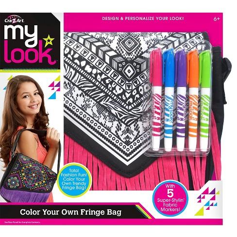 My Look Color Your Own Fringe Messenger Bag By Cra Z Art Target