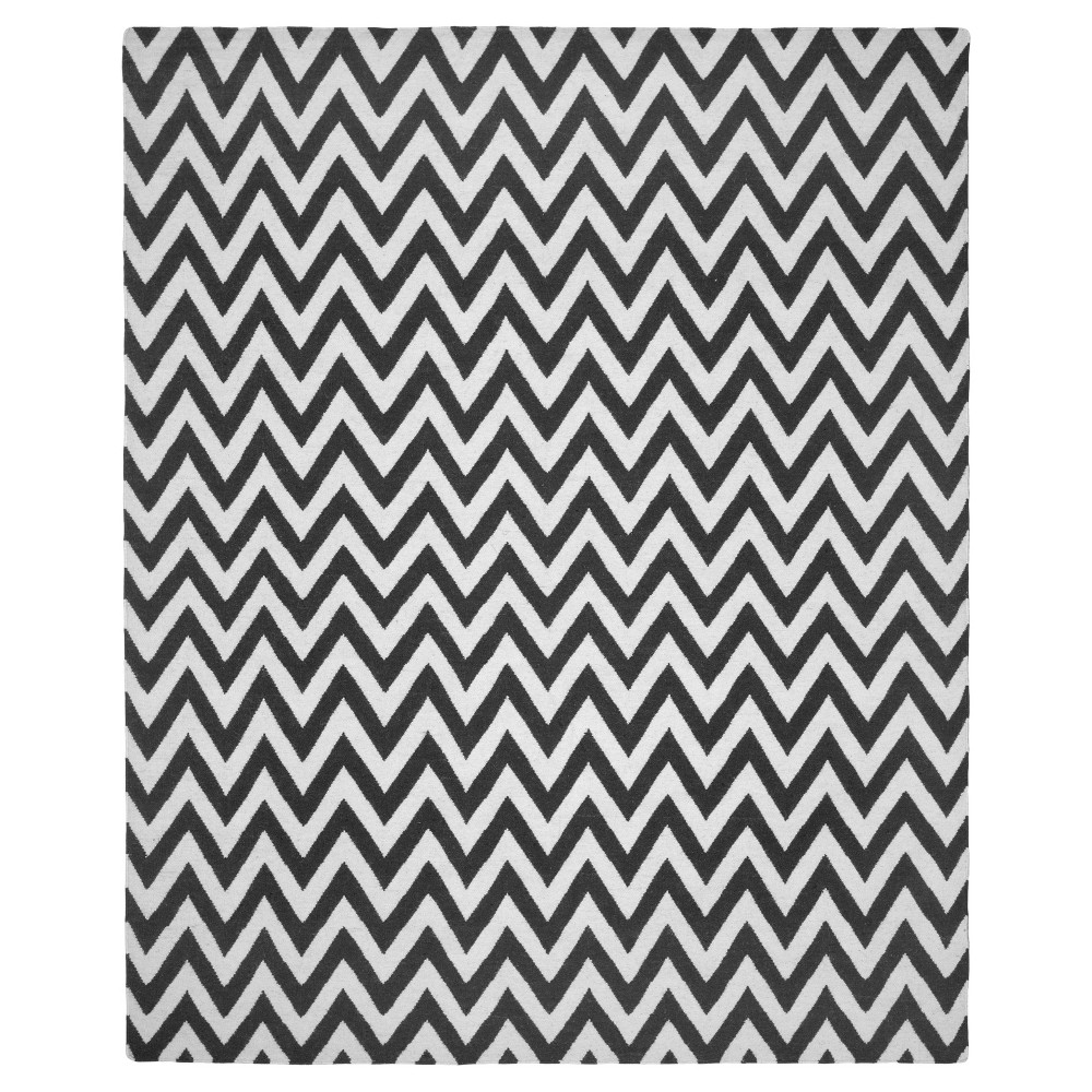 Sport stripe Area Rug Black/Ivory