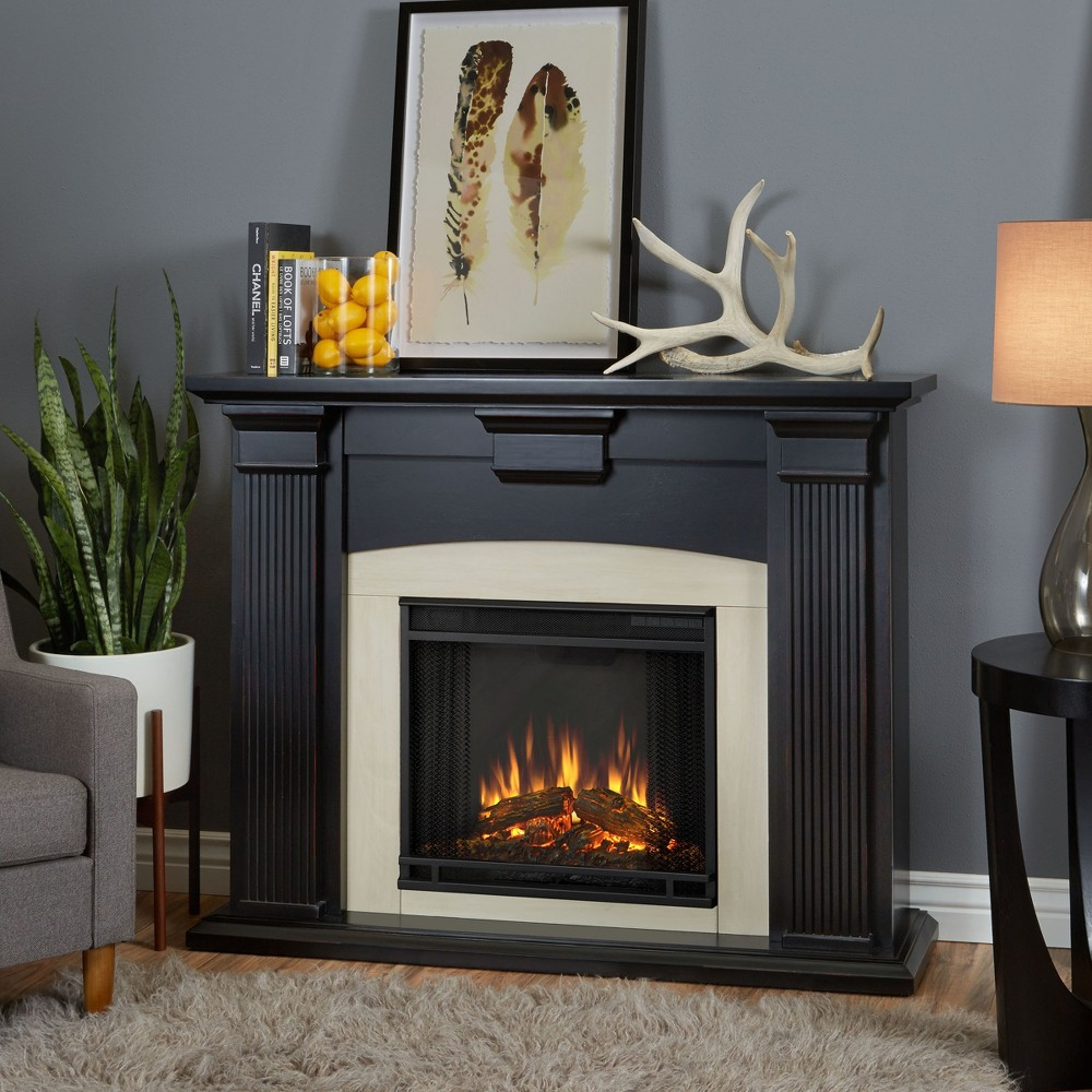 Real Flame - Adelaide Electric Fireplace-Blackwash, Black