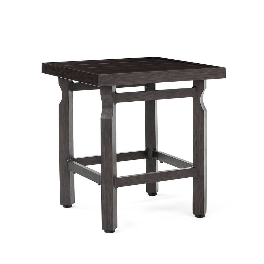 Image of Colton Side Table with Metal Slat Top - Brown - La-Z-Boy