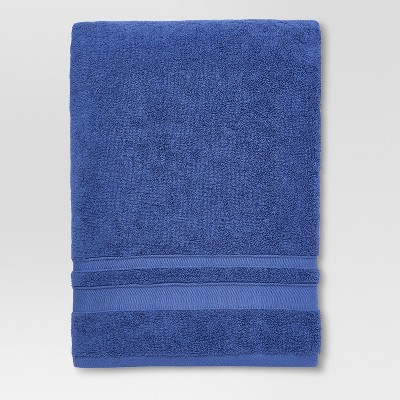 Performance Solid Texture Bath Sheet Blue - Threshold™