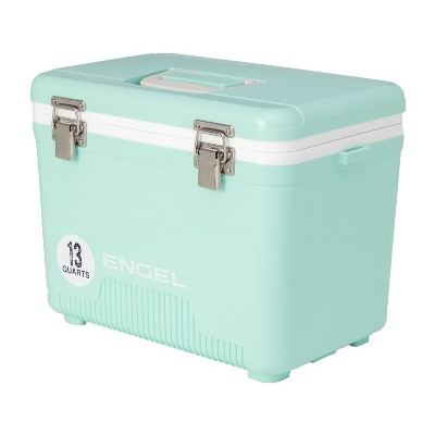Engel UC13SF 13 Quart 18 Can Leak Proof Odor Resistant Insulated Cooler Drybox with Integrated Shoulder Strap, Seafoam