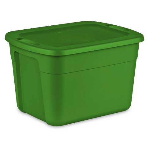 Sterilite 18gal Non Latching Tote Green - image 1 of 3