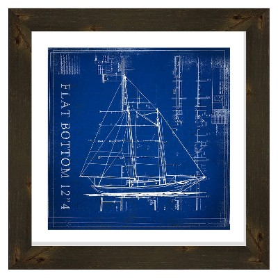 """26"""" x 26"""" Matted to 2""""Flat Bottom Picture Framed Expresso - PTM Images"""