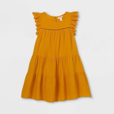 Girls' Tiered Gauze Dress - Cat & Jack™