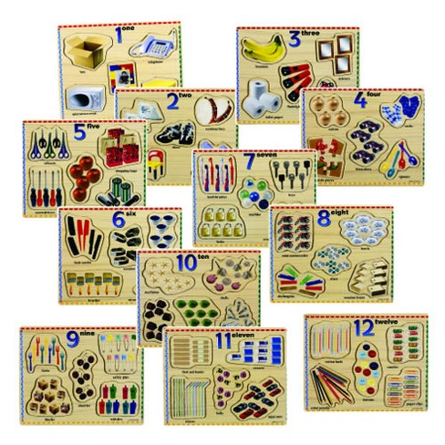 Puzzleworks Number Puzzles  - Set of 12 - image 1 of 1