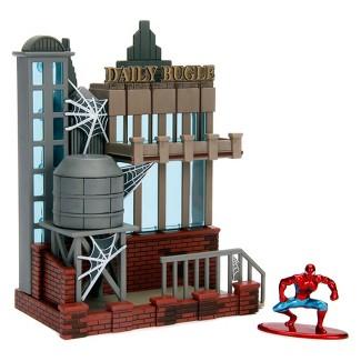 Nano Metalfigs Spider-Man Daily Bugle City Scene Playset