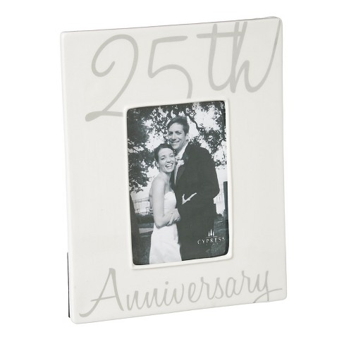 Ceramic Picture Frame - 25th Anniversary : Target