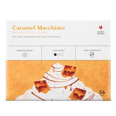 Caramel Macchiato Light Roast Coffee - Single Serve Pods - 36ct - Archer Farms™