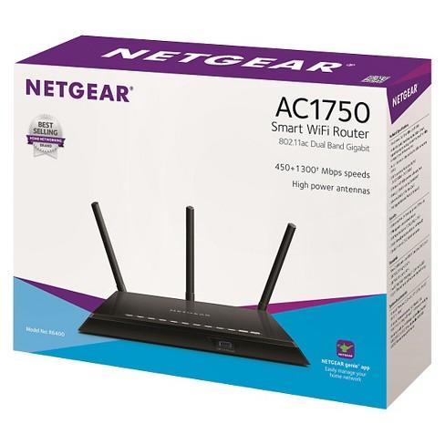 NETGEAR AC1750 Smart WiFi Router— 802 11ac Dual Band Gigabit (R6400)